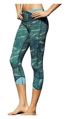 efd5a8502171  26.27 - Champion Womens Absolute Printed Capris M0578P Amazing Aqua Cell  Zoom Amazing Aqua  champion