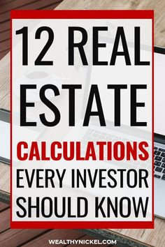 banking finance Here are the top 12 real estate investing calculations you need to know before investing in rental properties. These formulas will help you make money as a real estate investing beginner and increase your passive income! Real Estate Career, Real Estate Business, Real Estate Investor, Real Estate Tips, Real Estate Marketing, Investing In Real Estate, Buy Real Estate, Best Real Estate Investments, Commercial Real Estate Investing