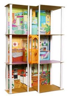 Barbie townhouse with elevator.  Kept this at my mom's - my daughter played with it as well