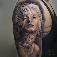 3-D татуировки с глубинным смыслом: работы канадского художника