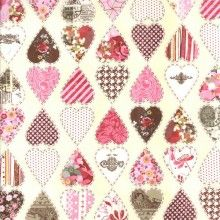 $5.00/25cm  Kissing Booth Hearts on Cream by Basic Grey for Moda - Wrapped in Fabric