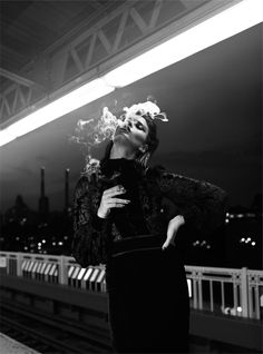 Crystal Renn is photographed by Laurie Bartley in the story 'NY in the Grit' for Numero Tokyo.