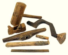 A set of carpentry tools found on board the Mary Rose