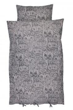 soft gallery junior bedcover grey owl