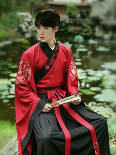 """changan-moon: """"Traditional Chinese hanfu for man by 重回汉唐 """" Chinese Men's Clothing, Chinese Clothing Traditional, Traditional Fashion, Traditional Dresses, Japanese Men, Japanese Fashion, Asian Fashion, Chinese Fashion, Fashion Art"""