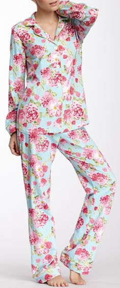 BedHead Summer Cabbage Rose Stretch Pajama Set