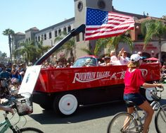 Best American Beach Towns for Fourth of July: Fourth of July parade, Huntington Beach, California. Coastalliving.com