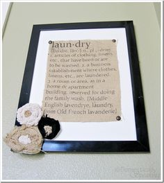 Print on burlap - cute idea!