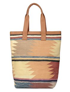 Buy Brown Cream Maroon Blue Handcrafted Cotton Kilim Tote PU Bags A Spot of Style with kalamkari kantha embroidery and weave Online at Jaypore.com