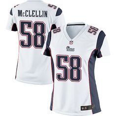 cf31fd09639 Women s Nike New England Patriots  58 Shea McClellin Limited White NFL Jersey  White Jersey