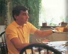 Having lunch Ayrton Senna