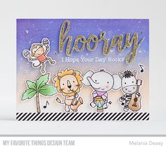 Stamps: Jungle Vibes Die-namics: Jungle Vibes, Hooray Melania Deasy #mftstamps