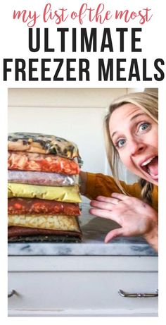 There's so many amazing freezer meals to choose from, so I created the ultimate list to have on hand!! These freezer meals are easy, delicous, and just what your family needs! #easy #freezermeals #makeahead #batchcooking | happymoneysaver.com Vegetarian Freezer Meals, Chicken Freezer Meals, Budget Freezer Meals, Freezer Friendly Meals, Slow Cooker Freezer Meals, Make Ahead Freezer Meals, Freezer Cooking, Freezer Recipes, Easy Weekday Meals