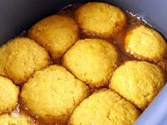 These slow cooker golden syrup dumplings are a great dessert that you can get cooking just before dinner so that they're done when you're ready for dessert. Slow Cooker Cake, Slow Cooker Desserts, Best Slow Cooker, Slow Cooker Recipes, Crockpot Recipes, Golden Syrup Dumplings, Sweet Dumplings, Slow Cooking, Golden Syrup Pudding