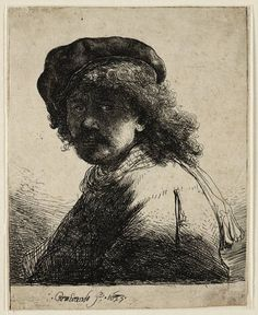 Mijn favoriete Rembrandt in Teylers Museum: Rembrandt, zelfportret (B17)