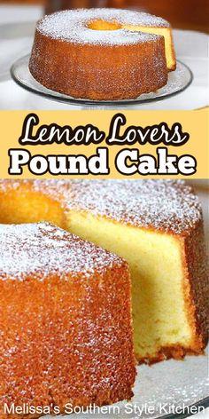 Lemon Dessert Recipes, Homemade Cake Recipes, Pound Cake Recipes, Lemon Recipes, Baking Recipes, Cookie Recipes, Pound Cakes, Just Desserts, Delicious Desserts