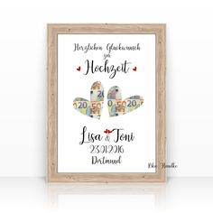 Gift wedding money gift hearts wedding gift personalized gift idea Wedding gift money gift hearts we Unique Gifts, Great Gifts, Cut Out Art, Engagement Ring Cuts, Personalized Wedding Gifts, Diy Birthday, 25th Birthday, Sister Birthday, Birthday Gifts