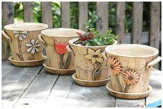 Advantages of Using Pottery for Interior Design Ceramic Houses, Ceramic Planters, Ceramic Clay, Ceramic Bowls, Painted Flower Pots, Painted Pots, Pottery Pots, Ceramic Pottery, Slab Pottery