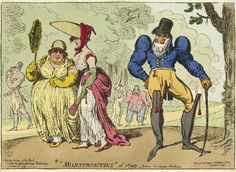 Monstrosities of 1799, Kensington Gardens, Gillray