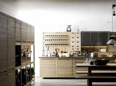 Cuisine intégrée en bois SineTempore Collection SineTempore by VALCUCINE