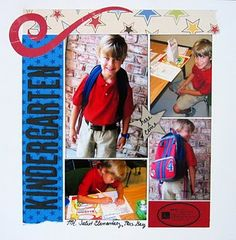 first day of school scrapbook page