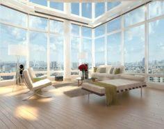 Une superbe baie vitrée dans un loft style americain