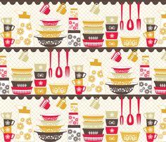 Retro Kitchen fabrics by Michael Miller   Fabric Love   Pinterest ...