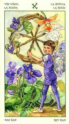 Wheel of Fortune - Spirit of Flowers Tarot