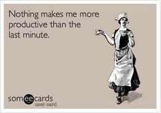 Thank goodness for the last minute....