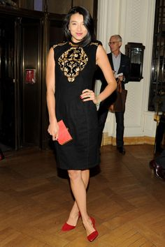 The Best Little Black Dresses of 2012 - Lily Kwong in Jason Wu. Love the red shoes with the black!