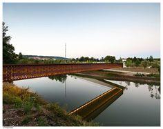 Rio Arga Pedestrian Bridge by Peralta Ayesa « Landscape Architecture Works | Landezine