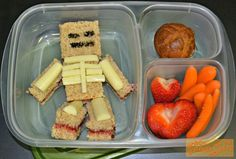 Minecraft Skeleton. Don't forget to add some #lunchboxlove for kids by www.sayplease.com -- positive messages and fun trivia for your child's lunchbox, back pack of binder!