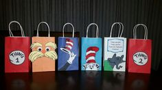 Dr. Seuss Party Favor Gift Bags! See SEUSSICAL live on stage with Music Circus at the Wells Fargo Pavilion JULY 12-17, 2016. TICKETS: http://www.californiamusicaltheatre.com/events/seussical-2016/