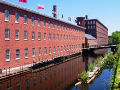 The American industrial revolution began in Lowell. Lowell was America's first planned industrial city. American Industrial Revolution, Lowell Massachusetts, New England Homes, Pixel, Best Cities, New Hampshire, Great Places, Images