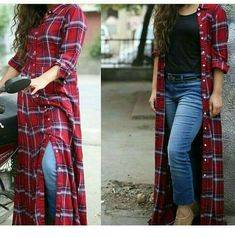 Jeans are incredible | Inspiring Ladies Stylish Dress Designs, Stylish Dresses, Fashion Dresses, Indian Designer Outfits, Designer Dresses, Casual Indian Fashion, Dress Over Pants, Kids Blouse Designs, Sleeves Designs For Dresses