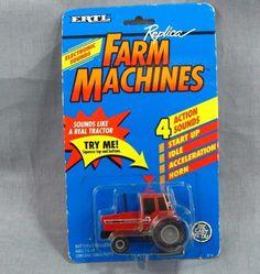 Case IH Tractor Farm Machines Ertl Replica 1991 International Harvester Farmall #Ertl