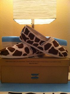Giraffe Custom painted Toms Shoes by jcgray1 on Etsy, $85.00