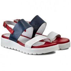 Sneakersy CARINII - B3149  Nappa Biała/Angel 1247/Oassi Rosso