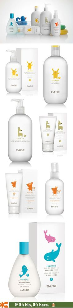 Nicely designed line of pediatric skin care (Babe Pediatrico) by Lavernia & Cienfuegos.: