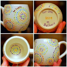 dottery mugs. next project at the ceramic store!