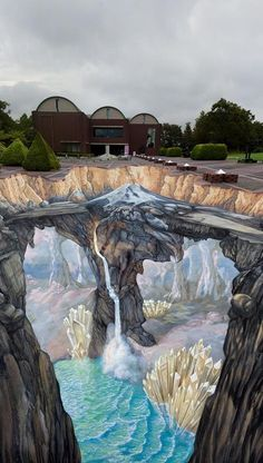 Edgar Mueller [Project] Tribute to Mount Fuji - Street art 3d Street Art, Amazing Street Art, Street Art Graffiti, Street Artists, Edgar Mueller, Illusion Kunst, Illusion Art, 3d Sidewalk Art, Art Public