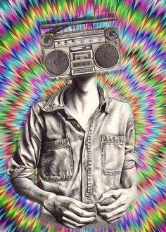 Trippy radio head
