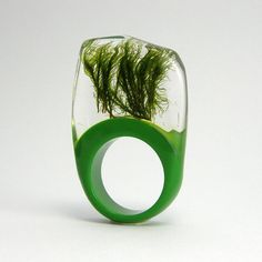 moss embedded in resin by Sisicata - gorgeous - reminds me of a tiny pond $40