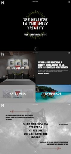 Monocromo Agency (More web design inspiration at topdesigninspiration.com) #design #web #webdesign #inspiration #sitedesign #responsive