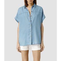 AllSaints Pome Bay Shirt (£125) via Polyvore