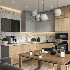 modern kitchen room are readily available on our site. Read more and you wont be sorry you did. Contemporary Kitchen Cabinets, Modern Kitchen Interiors, Home Decor Kitchen, Kitchen Living, Home Kitchens, Kitchen Paint, Kitchen Ideas, Contemporary Kitchens, Modern Kitchens