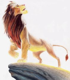 Simba - the-lion-king Fan Art This is amazing! Disney And More, Disney Love, Disney Magic, Disney Art, Disney Fantasy, Lion King Fan Art, Pride Rock, Le Roi Lion, Disney Lion King