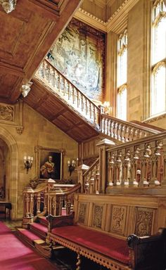 Staircase at Highclere Castle (where Downton Abbey is filmed).