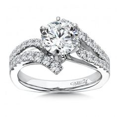 Luxury Collection Criss Cross Diamond Engagement Ring in 14K White Gold (0.62ct. tw.)# CR203W-4KH
