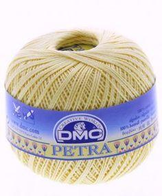 dmc petra 3 5745 lemon petra perle cotton available from loveellie.com @LoveEllieBags
